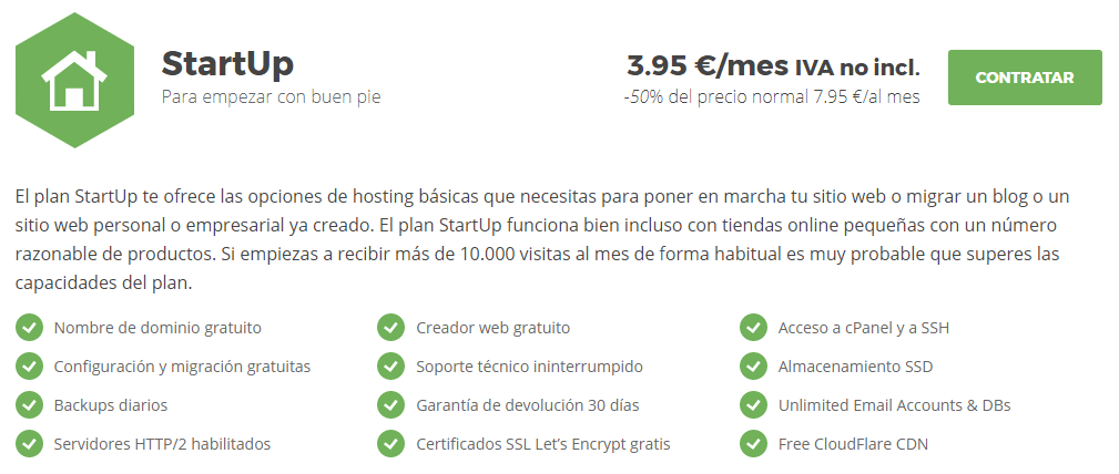 Siteground Plan StartUp