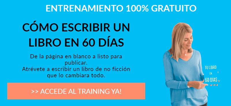 Acceso al training cómo escribir un libro en 60 días
