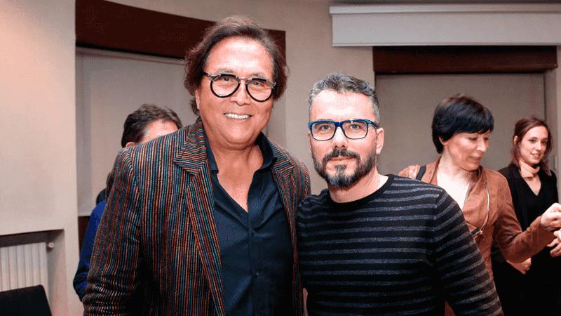 José Miguel García en compañía del Gran Robert Kiyosaki