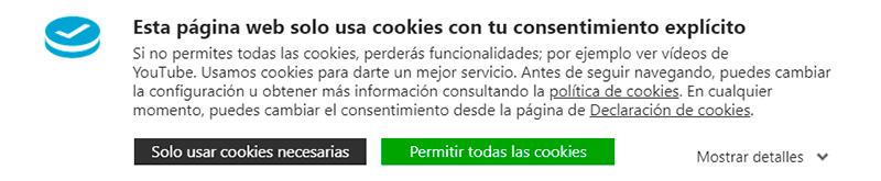 Imagen que contiene captura de pantalla, del faldón de cookies de eMarketerSocial.info Faldón de cookies de eMarketerSocial.info