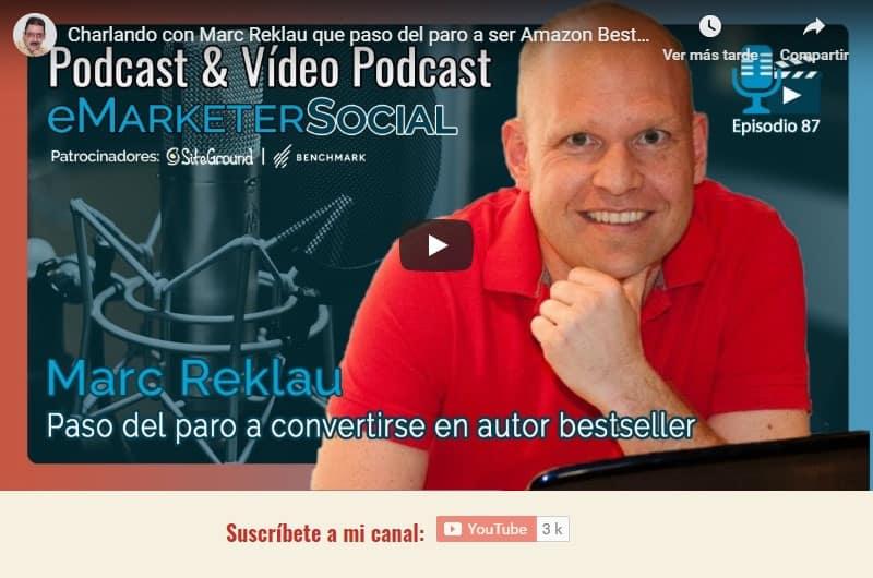 Acceder al canal de youtube charla con Marc Reklau 1