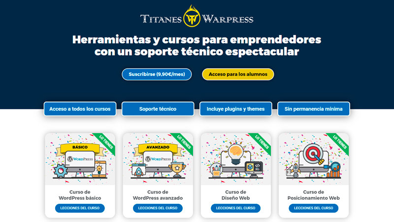 Titanes WardPress